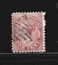 CANADA – 1859 – QUEEN VICTORIA ISSUE – 1 Cent, Rose Color – Scott # 14 – USED