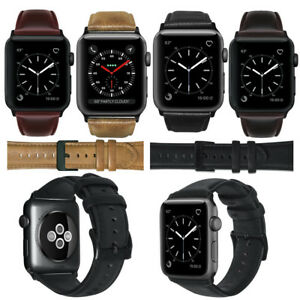 Men Genuine Leather Watch Single Tour Wristband For Apple Watch Series 4 3 2 1