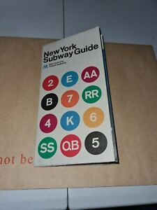 New York Transport Map Leaflet Subway Guide 1974 BQ2.7