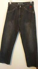Drunknmunky Men's Black Relaxed Baggy Loose Denim Jeans 30 X 32
