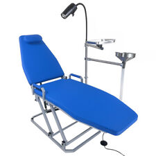 Greeloy Dental Chair Portable Folding Chair With Led Cold Light Amp Cuspidor Tray