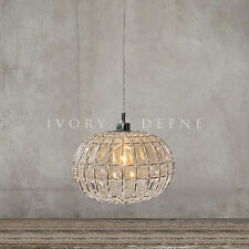 LILY Round Ball Pendant Chandelier Chrome Light Hanging Lamp Acrylic Crystals
