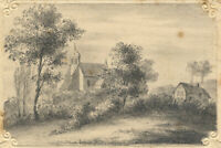 St Nicolas Church, Forest Hill, Oxford – Original 19th-century graphite drawing