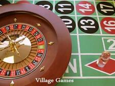 "**Hot Buy* Brand New Casino Grade 16"" Solid Mahogany Wood Roulette Wheel & Rake"