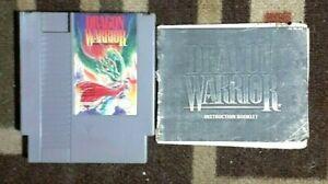 Dragon Warrior + Manual (Nintendo NES) Good Shape & Tested