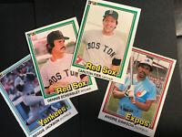 1981 Donruss Baseball lot of 12 Stars From The 80's - Dawson/Berra/Fisk... Etc