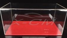 Car Model Transparent Display Show Case Velvet Like Base 1:18 (Red)