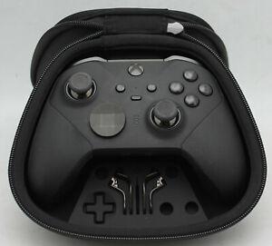 Used Microsoft Xbox One Elite Black Series 2 Controller w/USB. No Charge Block