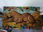 Vintage Velvet Tapestry of Cheetah