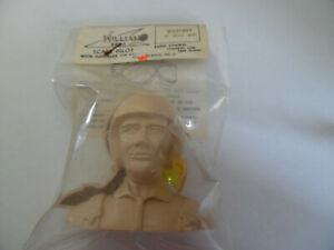 """NEW VINTAGE WILLIAMS BROS RC SCALE PILOT WITH GOGGLES MILITARY 2"""" SCALE #172"""