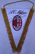 AC MILAN FOOTBALL PENNANT SIGNED BY RUUD GULLIT