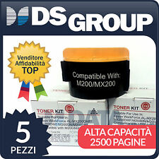 5pz. TONER COMPATIBILI EPSON NERO MX200 WORK FORCE AL-MX200DNF AL-M200DN S050709