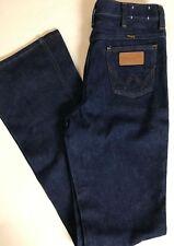 Men's Vintage 70s Wrangler No Fault Blue Denim Jeans SZ 30x36 USA Flare Leg Bell