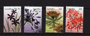 Lesotho  #1356-59 (2004 Flowers set) VFMNH CV $6.75