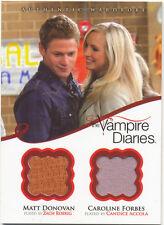 VAMPIRE DIARIES SEASON 2 DUAL COSTUME/WARDROBE CARD DM4 Matt & Caroline