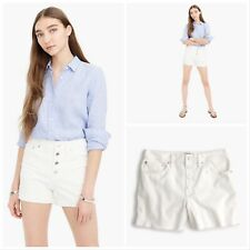 NWT $79.50 J.CREW Sizes 24 - 32 High-rise Denim Short in White Button-fly H6973