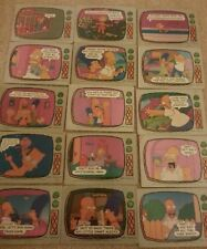 MULTI-LIST OF SINGLE TOPPS 1990 THE SIMPSONS TRADING CARDS FREE P/P