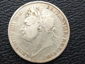 George III 'Secundo' Solid Silver Crown 1821 Low mint Key Date