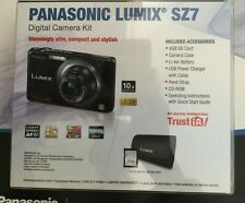 NIB•Panasonic LUMIX DMC-SZ7 14.1MP Digital Camera•Black•10X ZOOM W/ 4GB SD CARD