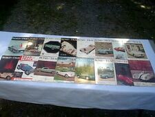 16 ISSUES 1951-58 ROAD & TRACK MAGAZINE