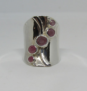 Jay King DTR Sterling Silver 925 Rhodonite? Elongated Ring - Sz 6.75