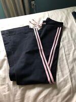 Shape Up Fitness Wear Women's Crop Pants Size: Adults Black W Pink