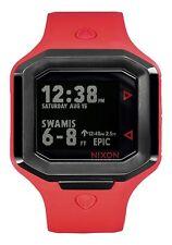 Nixon Original Ultratide Men's A476-2100 Red / Gunmetal Silicone 45mm Watch