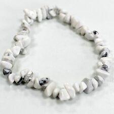 White Jasper Crystal Chip Bracelet Stretch Reiki Gemstone Costume Jewellery Gift