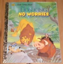 The Lion King No Worries A new Story About Simba Little Golden Books 1995 Disney