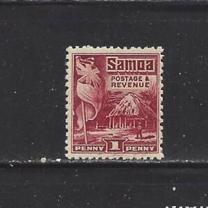 SAMOA (NZ MANDATE) - 143 - MH - 1921 - BRITISH FLAG & SAMOAN HOUSE