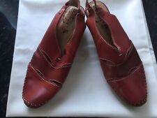 Ladies red leather Slingback Summer shoes size 7