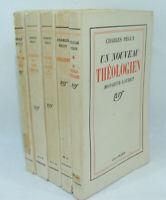 Lot de 5 livres CHARLES PÉGUY NRF Gallimard 1929-42 Hugo Situation Mystère d'Arc