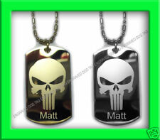 THE PUNISHER ENGRAVED DOG TAG FREE PERSONALIZED, NEW