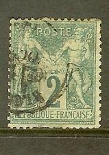 """FRANCE STAMP TIMBRE N° 62 """" SAGE 2c VERT TYPE I """" OBLITERE A VOIR"""