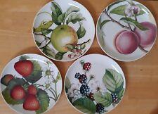 Set of 4 Portmeirion Eden FRUITS 9-inch Salad/Dessert Plates, 4 Designs, Excelle