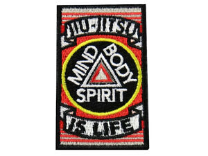 Jiu Jitsu BJJ Gi Patch JIU-JITSU IS LIFE Jiu Jitsu Gift IRON-ON Stocking Stuffer