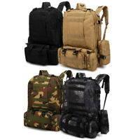 55L Molle Outdoor Military Tactical Bag Camping Hiking Trekking Backpack USA