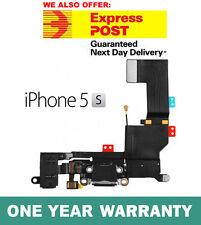 Genuine iPhone 5S Charging Port Dock Connector Flex Mic Audio Jack - BLACK