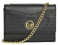 NWT GUESS BLAIRE HANDBAG Black Logo Crossbody Clutch Bag or Wallet Purse GENUINE