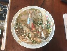 Bradford Exchange 1995 Peter Rabbit & Benjamin Bunny Music Box Plate