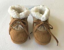 Gymboree Snow Cozy Boys Tan Suede Sherpa Boots Crib Shoes Sz 03 NWT