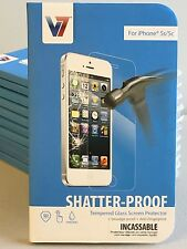 V7 Tempered Glass Screen Protector for iPhone 5, 5c, 5s PS500-IPHN5TPG-3N ➔NEW!