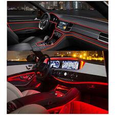 Universal Car Auto Interior LED Decor Wire Strip Atmosphere Cold Light Red 4M E