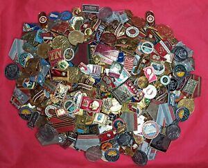 LOT of 30 pcs USSR SOVIET ERA VINTAGE ENAMEL PINS BADGES COLD WAR COMMUNISM CCCP