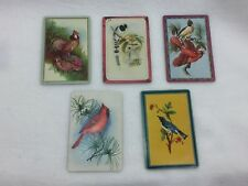 5 Single Swap Playing Cards Birds Cardinal Bluebird Pheasant 25180