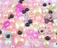 10g Mixed Colour Flatback Pearl Mix Set Decoden Embellishments Craft Supplies