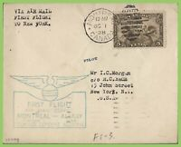 Canada  1928 First Flight Cachet Cover, Montreal to New York