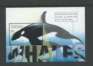 2001 Whales  Mini Sheet  No 02018  complete MUH Value here