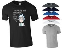 Rick and Morty T Shirt Pickle Rick Opinion Funny Joke Animation Kids Unisex Top