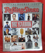 ROLLING STONE MAGAZINE SPECIAL DOUBLE ISSUE 645/646 YEARBOOK DECEMBER 1992 RARE!